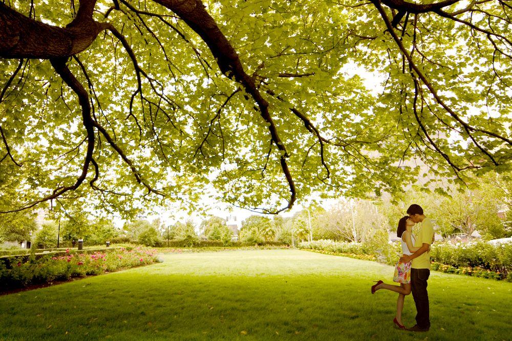 Wedding ceremony reading nature