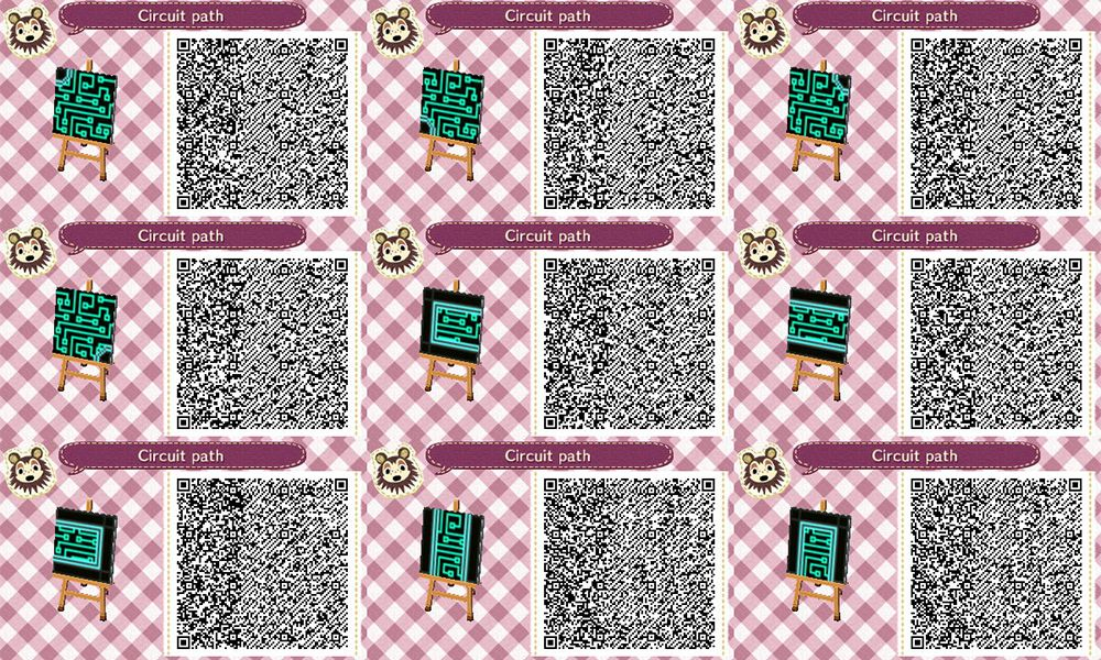 Animal Crossing New Leaf Qr Code Paths Pattern Animal Crossing