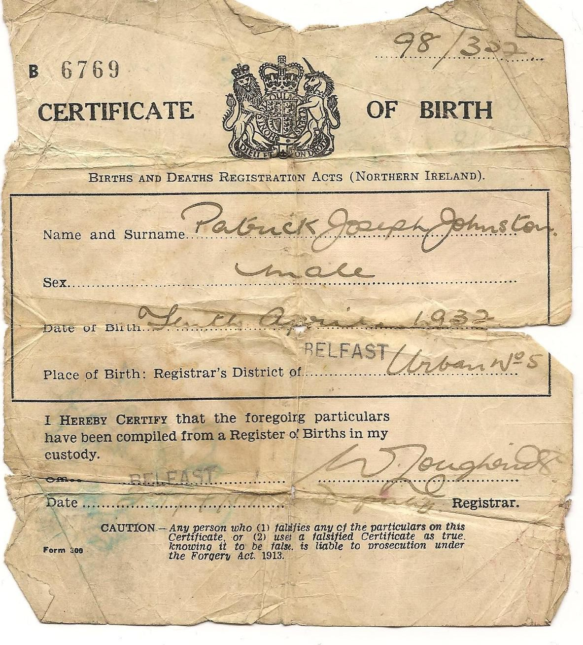 Image result for old birth certificate switched at birth 1 image result for old birth certificate switched at birth 1 pinterest birth certificate aiddatafo Gallery