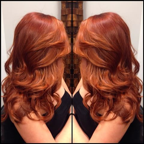 Bright copper balayage gorgeous enough to die for. ️ I ...