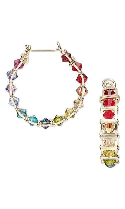 Cool swarovski bead bracelet