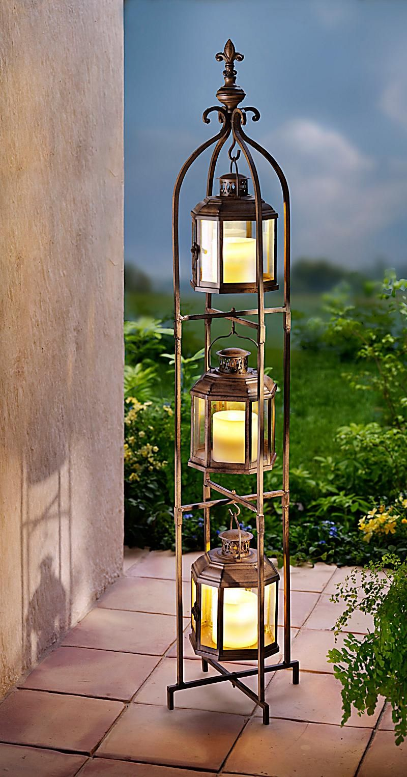 Outdoor Led Kerzen Laternen Trio Mit Led Kerzen Flowers Of Every Kind In Design