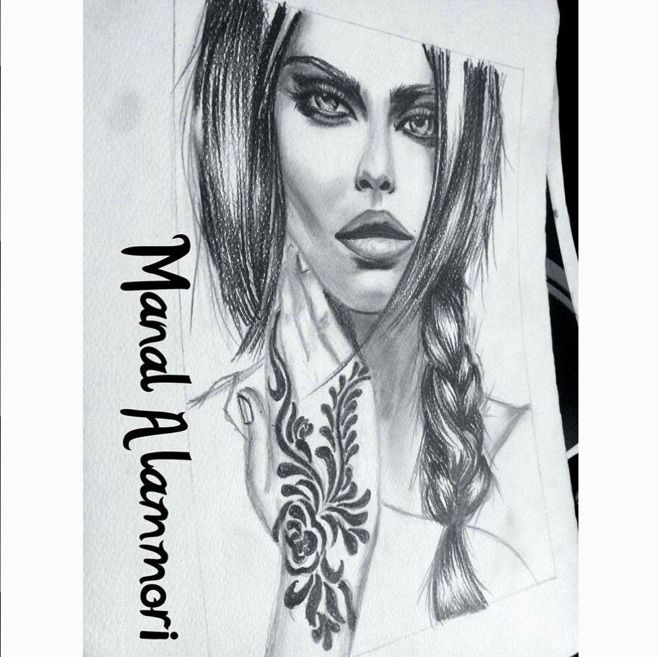 من رسوماتي منال العموري Female Sketch Male Sketch Female