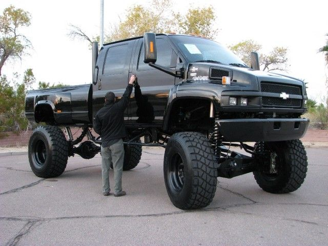 Ebay Find One Awesome And Humongous Chevy C4500 Truck Trucks Jacked Up Trucks Chevy Trucks