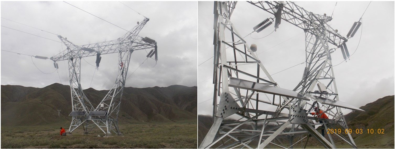 Solar Power System Aircraft Warning Light For 550kv High Voltage Power Line Transmission Tower In 2020 Solar Power System Solar Power Warning Lights