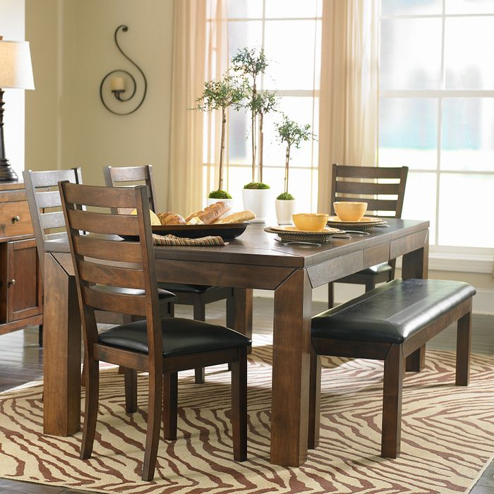 This 6Piece Dining Set With Butterfly Leaf And Bench Adds A Clean Adorable Kitchen Table With A Bench Inspiration