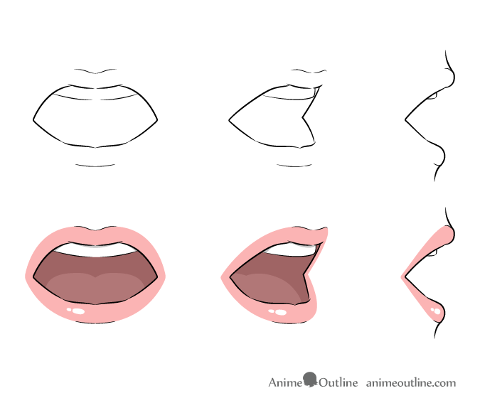 Anime Lips Ecosia Anime Lips Anime Drawings Lips Drawing