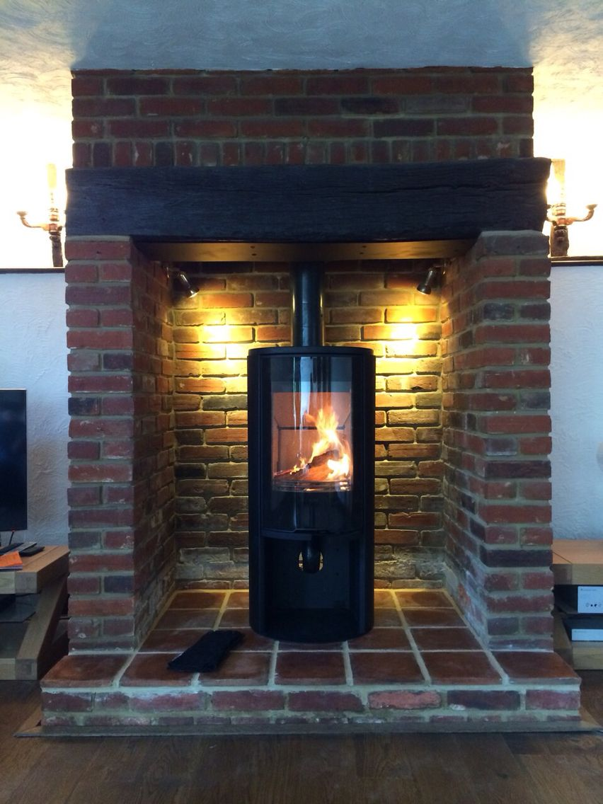 Conturac556style In Barn Conversion Glass Door Big Flame Picture