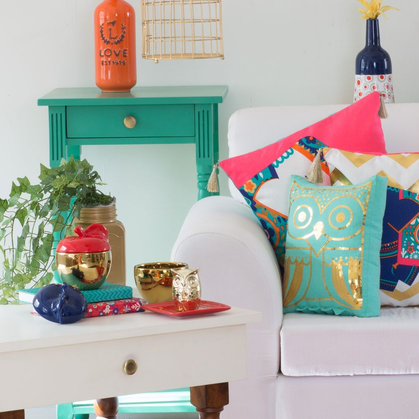 made from cotton and sequin work detailing this kitschy plush cushion adds a bit of colour and spunk to your home this festive season - Home Decor Cushions