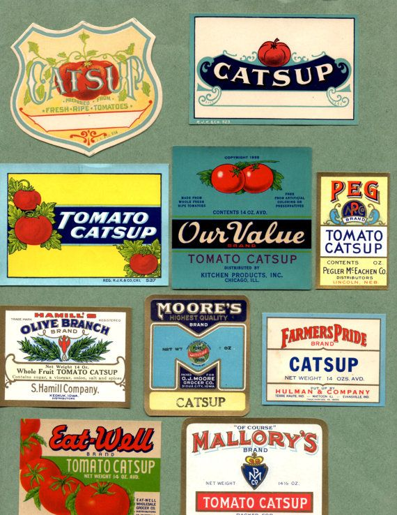 19 Different Types Of Pants: 19 Different Vintage Catsup, Ketchup Labels. Most Labels