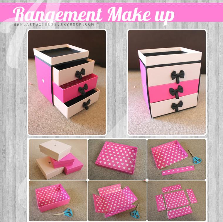 Bricolage Comment Faire Un Rangement De Make Up Rangement Maquillage Diy Organisateur De Maquillage Diy Artisanat Bricolage