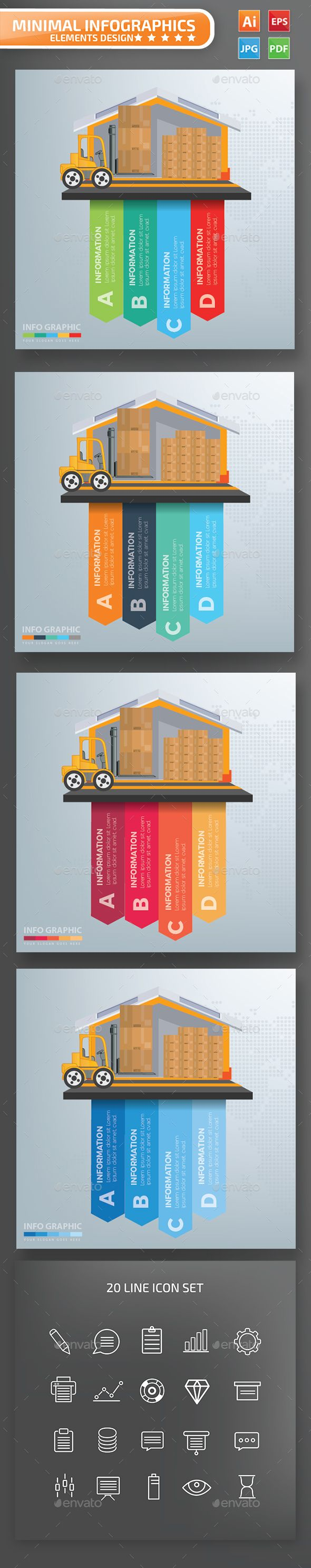 Download Cargo and warehouse infographics | Infographic ...
