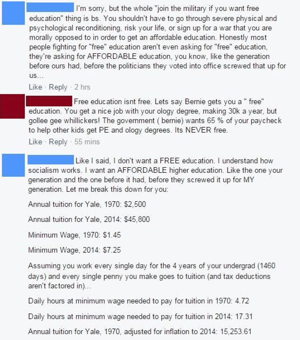 Millennial Takes Baby Boomer To School With The Facts ...