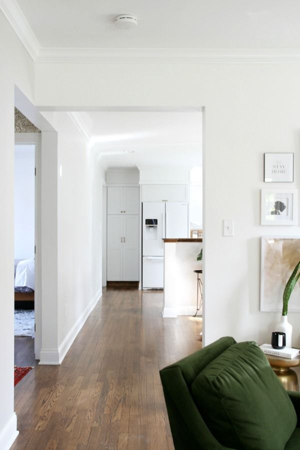 Wall Paint Benjamin Moore Super White House Tweaking