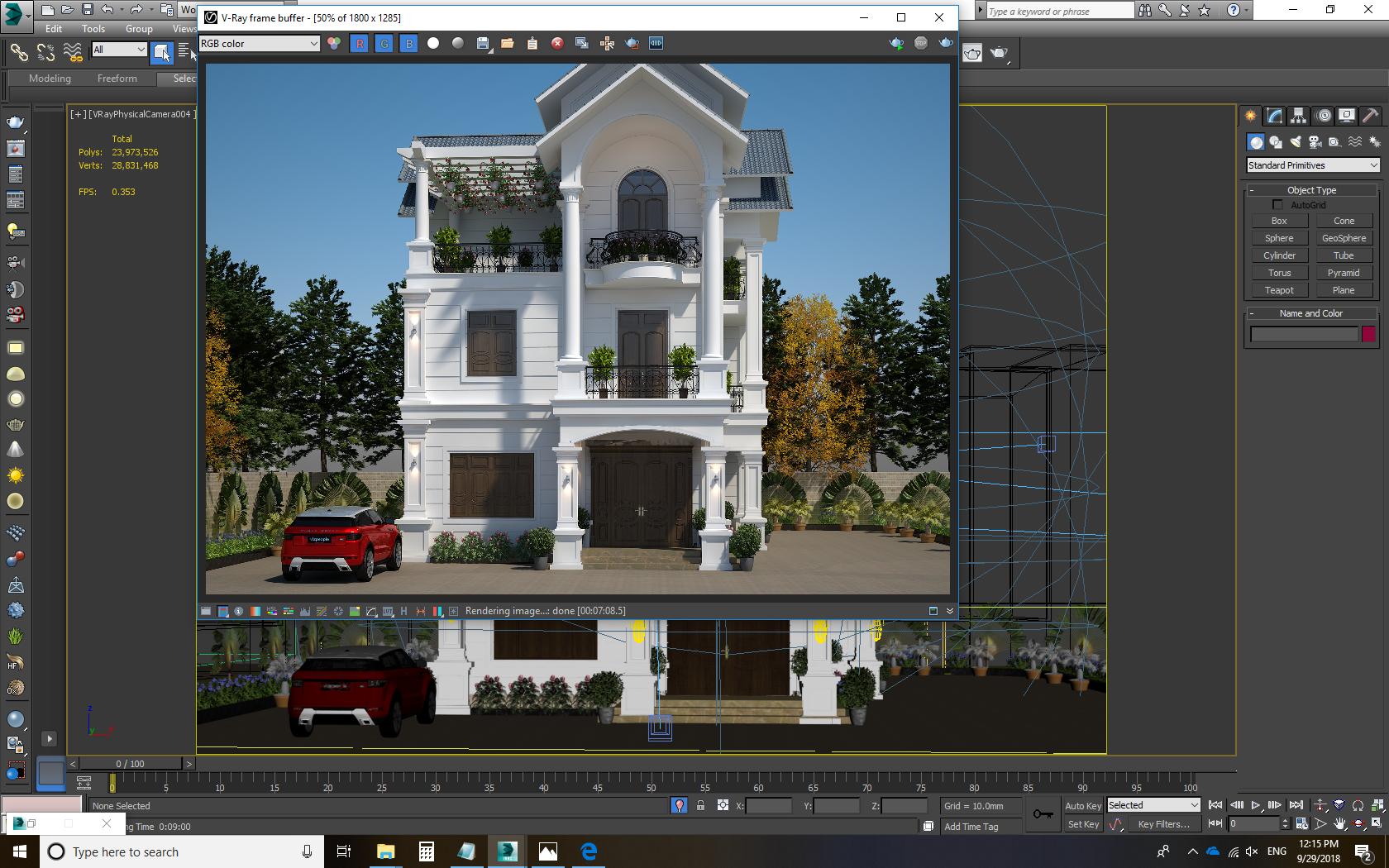 3d Exterior Scene 2018 File 3dsmax By Davinci Vjc Free Dowload Exterior Architecture Visualization Scene