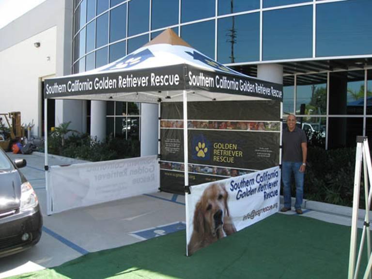 Pop Up Tent For Southern California Golden Retriever Rescue Golden Retriever Rescue Tent Golden Retriever