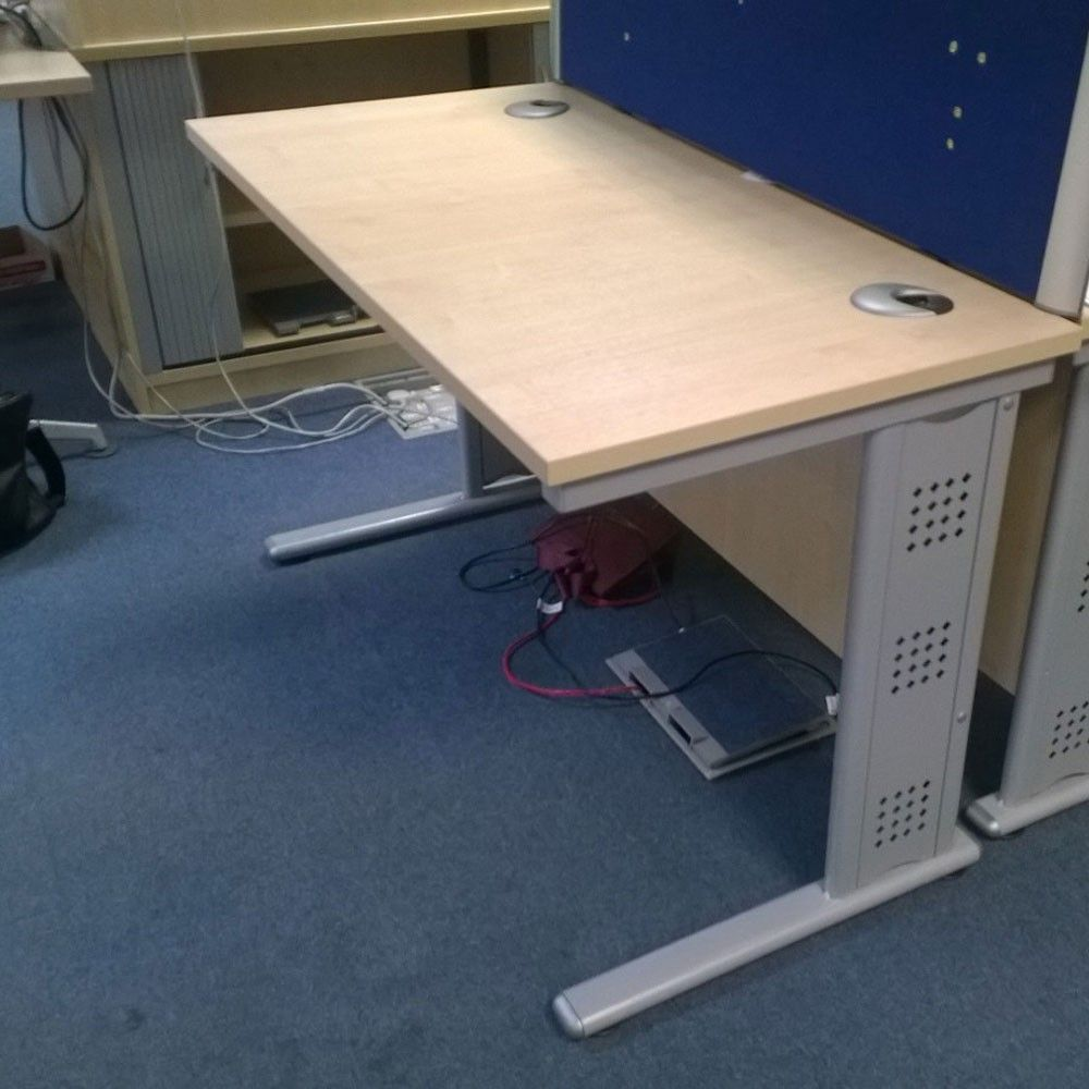 Second Hand Office Desk - Cable Managed Legs | Choose from two desk ...