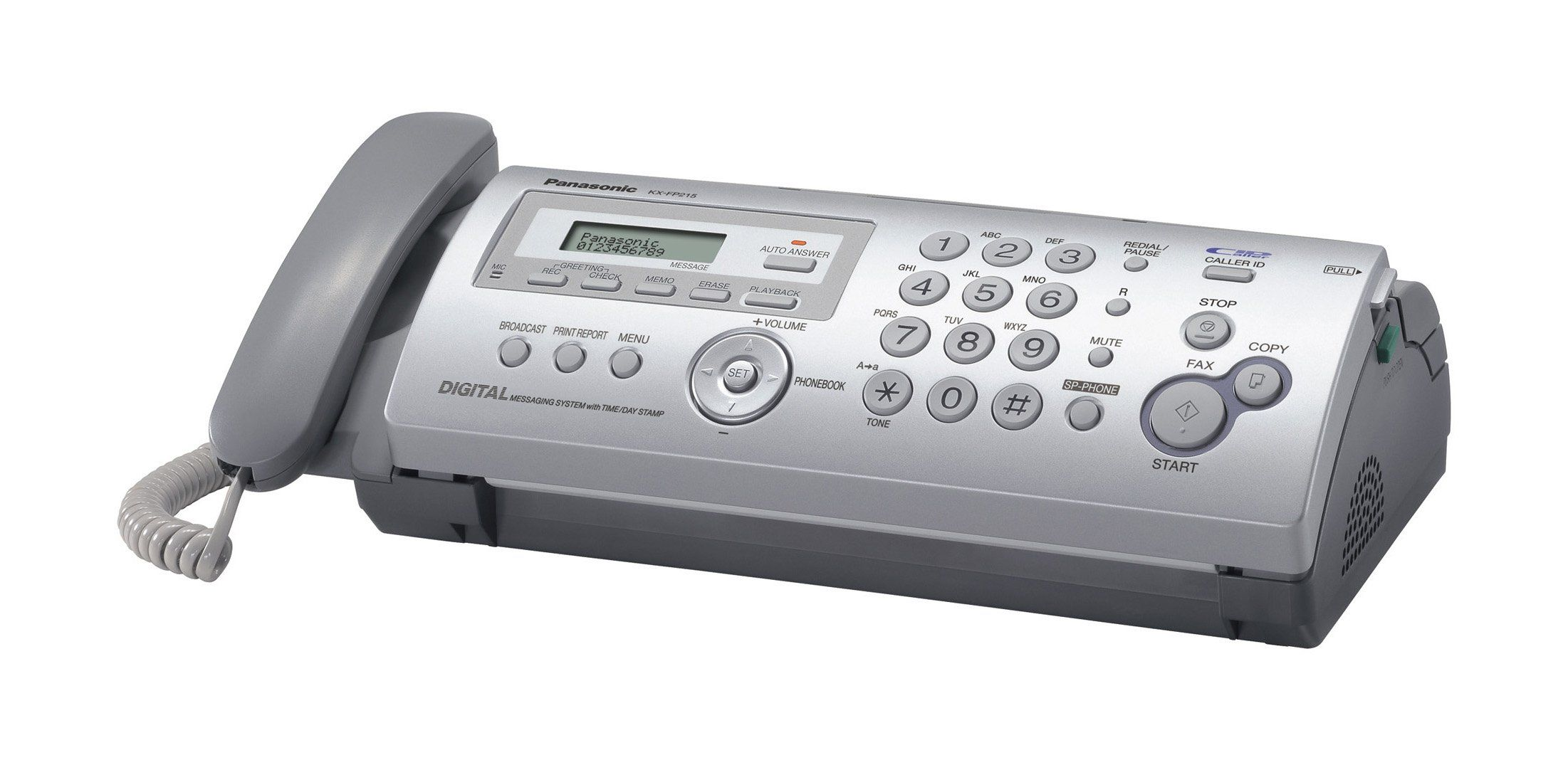 Compact plain paper faxcopier with answering system fax