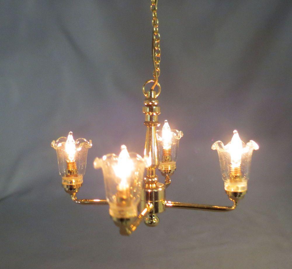 Dollhouse miniature 4 arm tulip chandelier nip gold ck3002 cirkit dollhouse miniature 4 arm tulip chandelier nip gold ck3002 cirkit arubaitofo Choice Image
