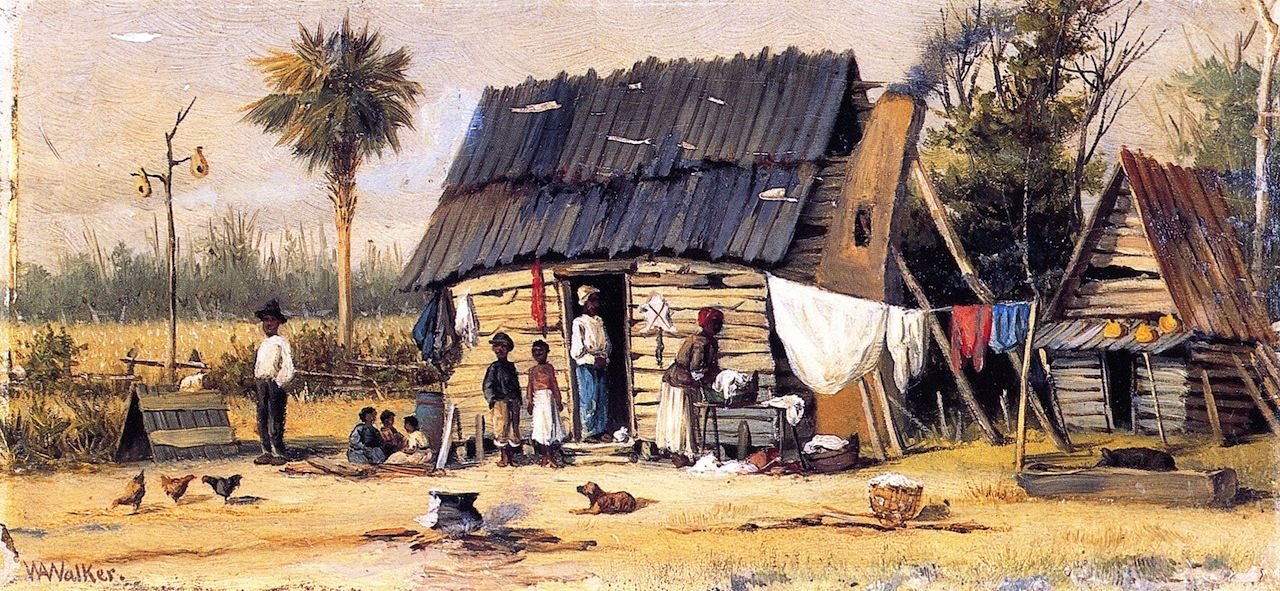Drying the Wash, by William Aiken Walker ~ this is obviously in Florida, judging by the Palm tree and flat landscape.