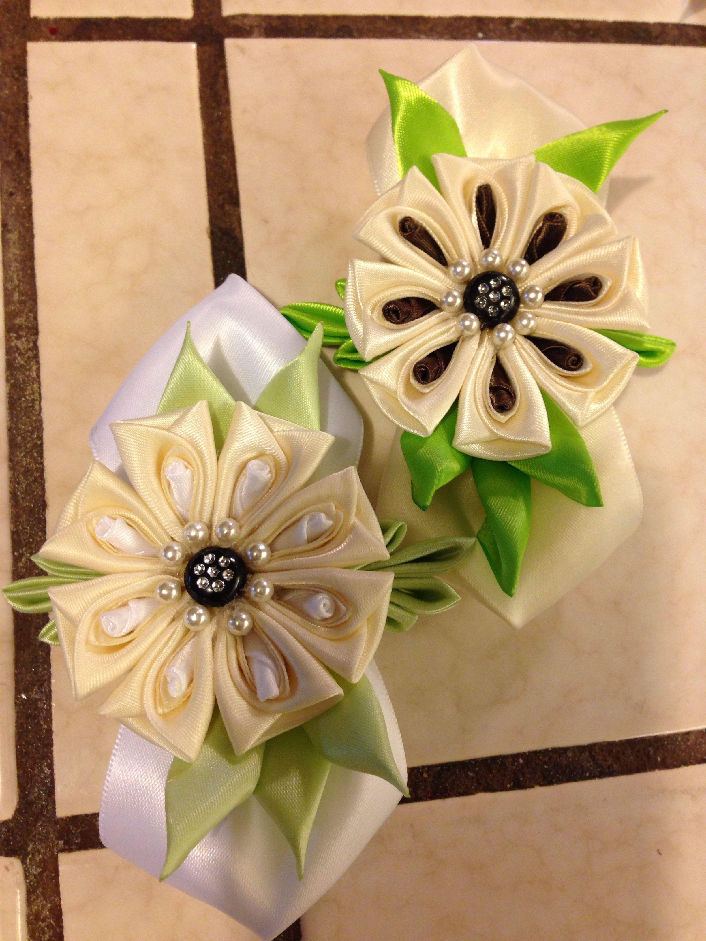 825f9a3d93f Čelenky · Kvety · Very detailed Kanzashi flower. Made by Irma Louisa.  Látkové Kvety