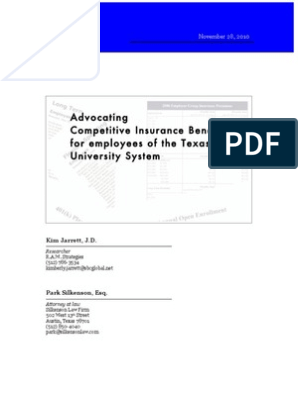 Advocating Competitive Insurance Benefits For Employees Of The