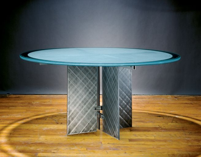 Modern Glass Top Dining Tables With Steel And Glass As Small Round - Small glass conference table