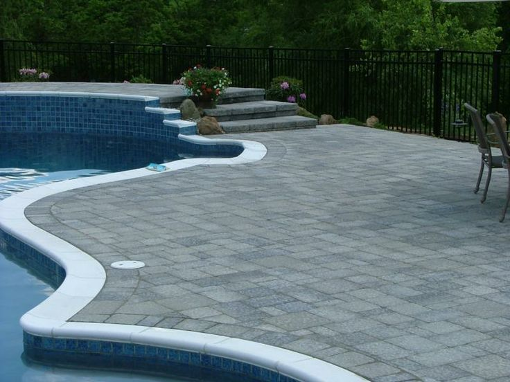 Grey Pool Deck Pavers Is The All Grey A Little Boring Paver