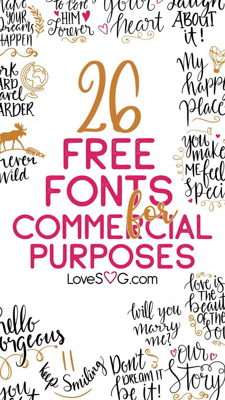 Download 26 Free Fonts for Commercial Use #PhotoshopFonts | Cricut ...