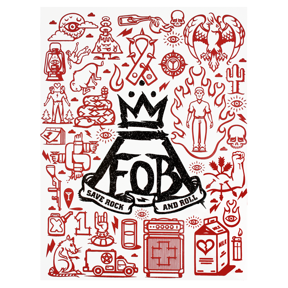 Flash Fob Poster Fall Out Boy Symbol Save Rock And Roll Fall Out Boy Poster