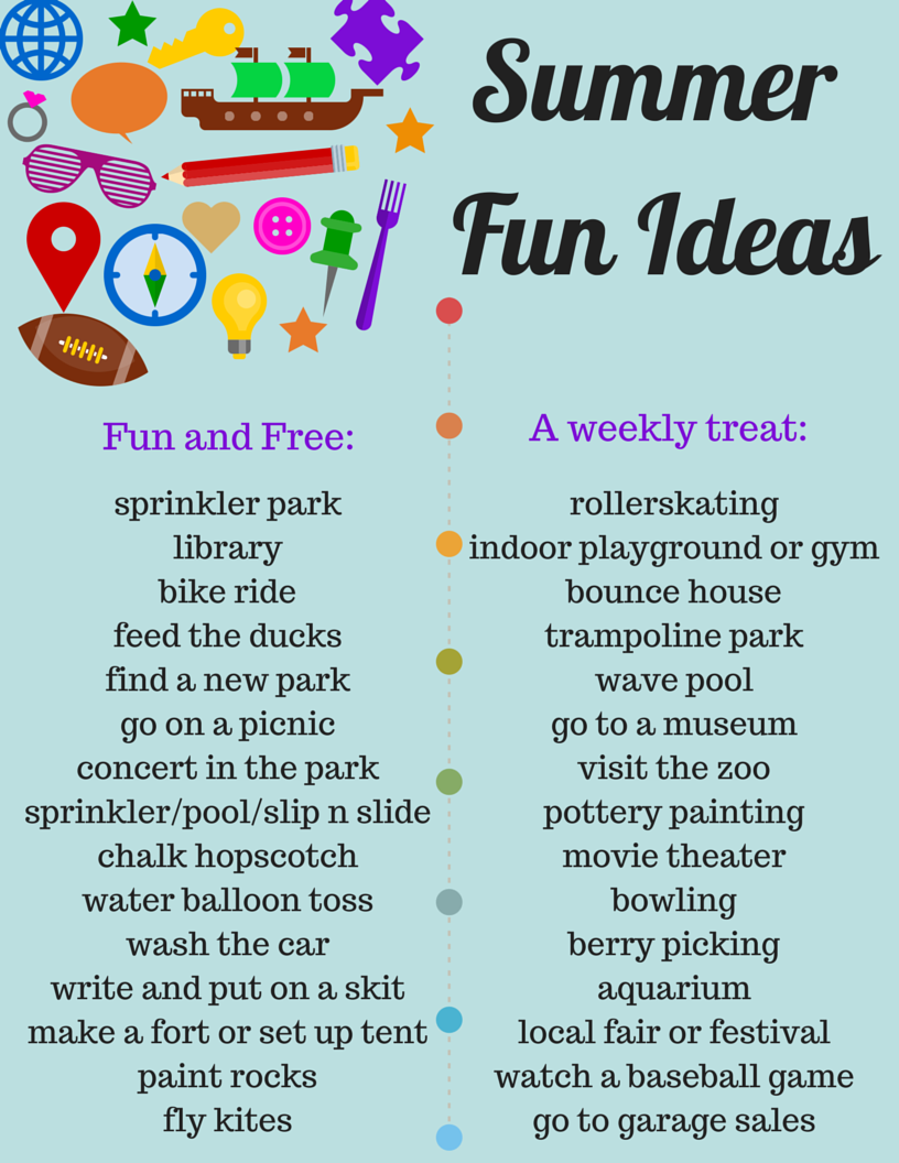 savvy spending free summer fun ideas printable list of free and cheap things to do with your. Black Bedroom Furniture Sets. Home Design Ideas