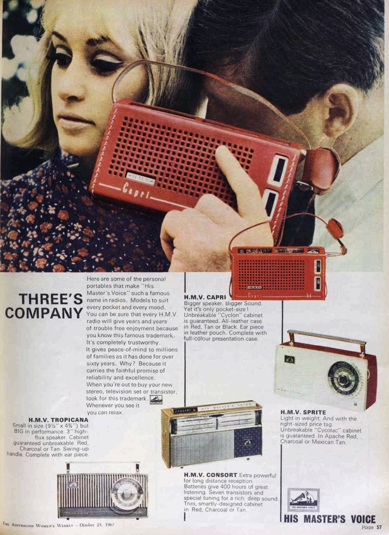 The Swinging Sixties : Photo~My first radio was just like the one in the red case!~