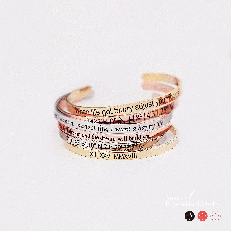 Photo of Coordinates cuff, Custom coordinates bracelet, Best friend gifts, Bangle bracelets for women, Engraved bracelet, Cuff bracelets for women,
