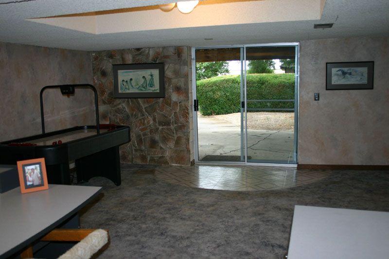 Rec room walk out basement home ideas pinterest - Walk out basement design ...