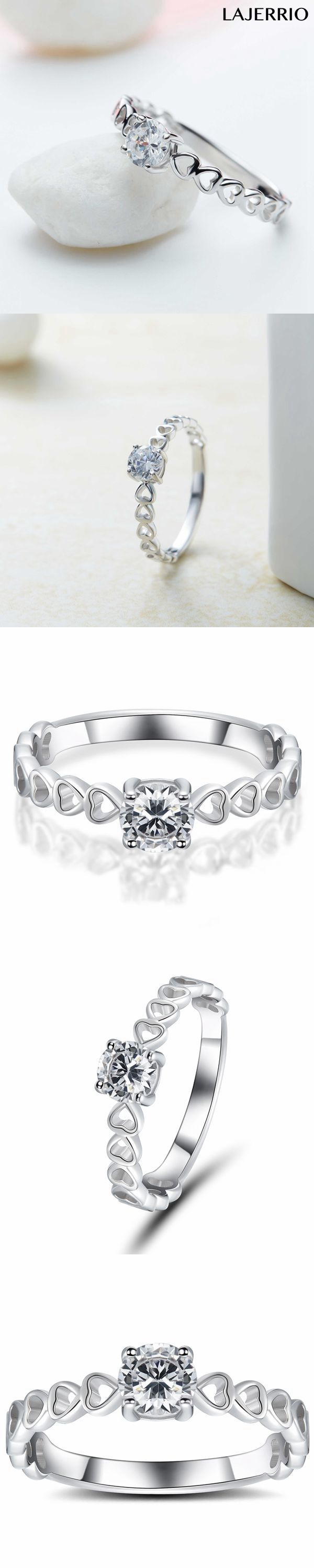 1b248c439625c 0.5CT Round Cut White Sapphire 925 Sterling Silver Promise Rings For ...