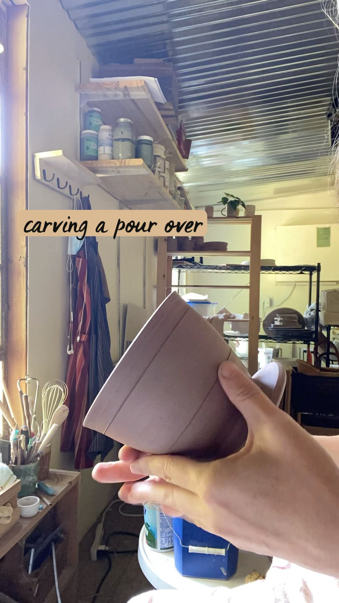 carving a pour over
