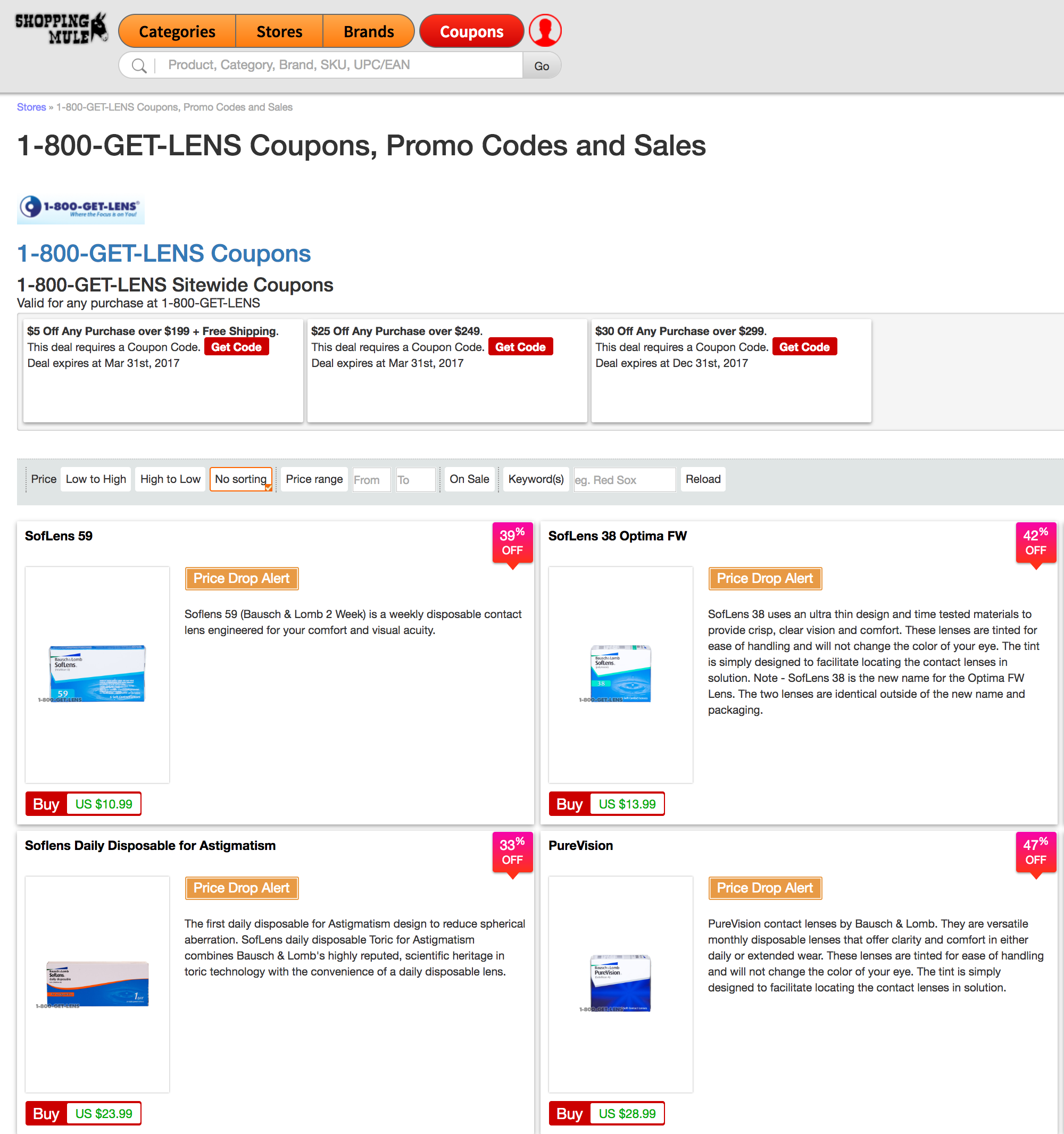 1 800 Get Lens Coupons Here You Can Find Coupons Promo Codes And Sales On Contact Lenses From 1800getlens Find Coupons Optician Prescription Contact Lenses