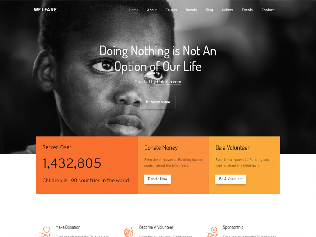 Free Welfare Charity Website Html Template Welfare Is Something That The Government Should Really Website Design Free Website Template Design Charity Websites
