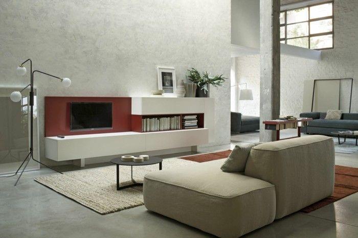 cool wanddesign betonwände wohnzimmer einrichten ideen Check more at - wohnzimmer einrichten ideen