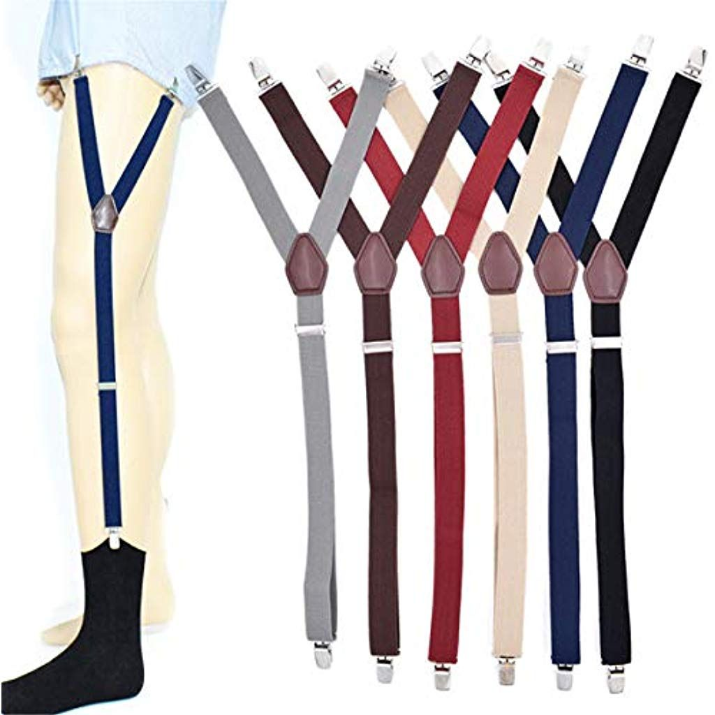 Shirt Stays Stirrup Adjustable Men Elastic Garters Strap Non-slip Clamps Clip