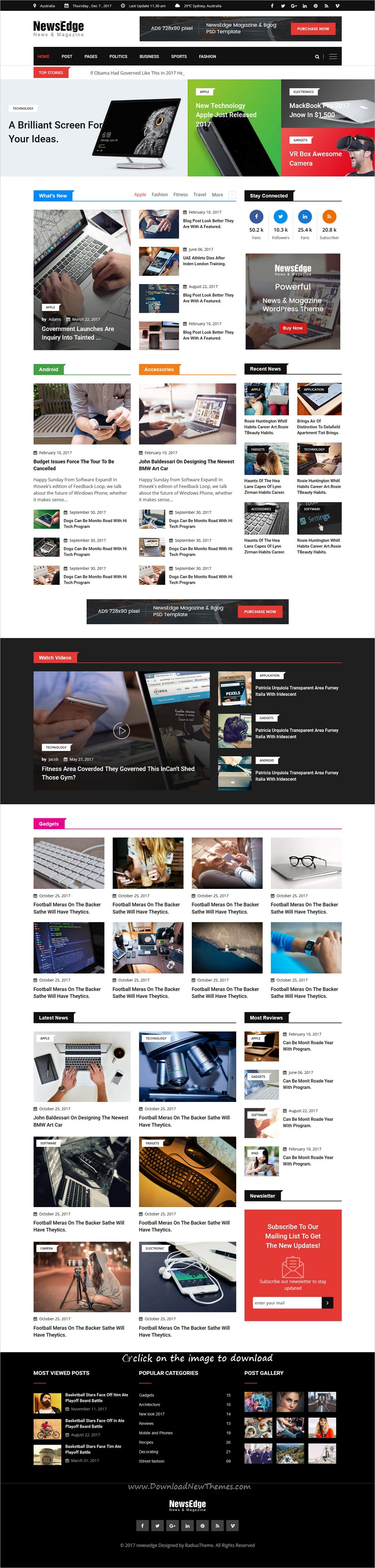 NewsEdge - News & Magazine HTML Template | Magazine website ...
