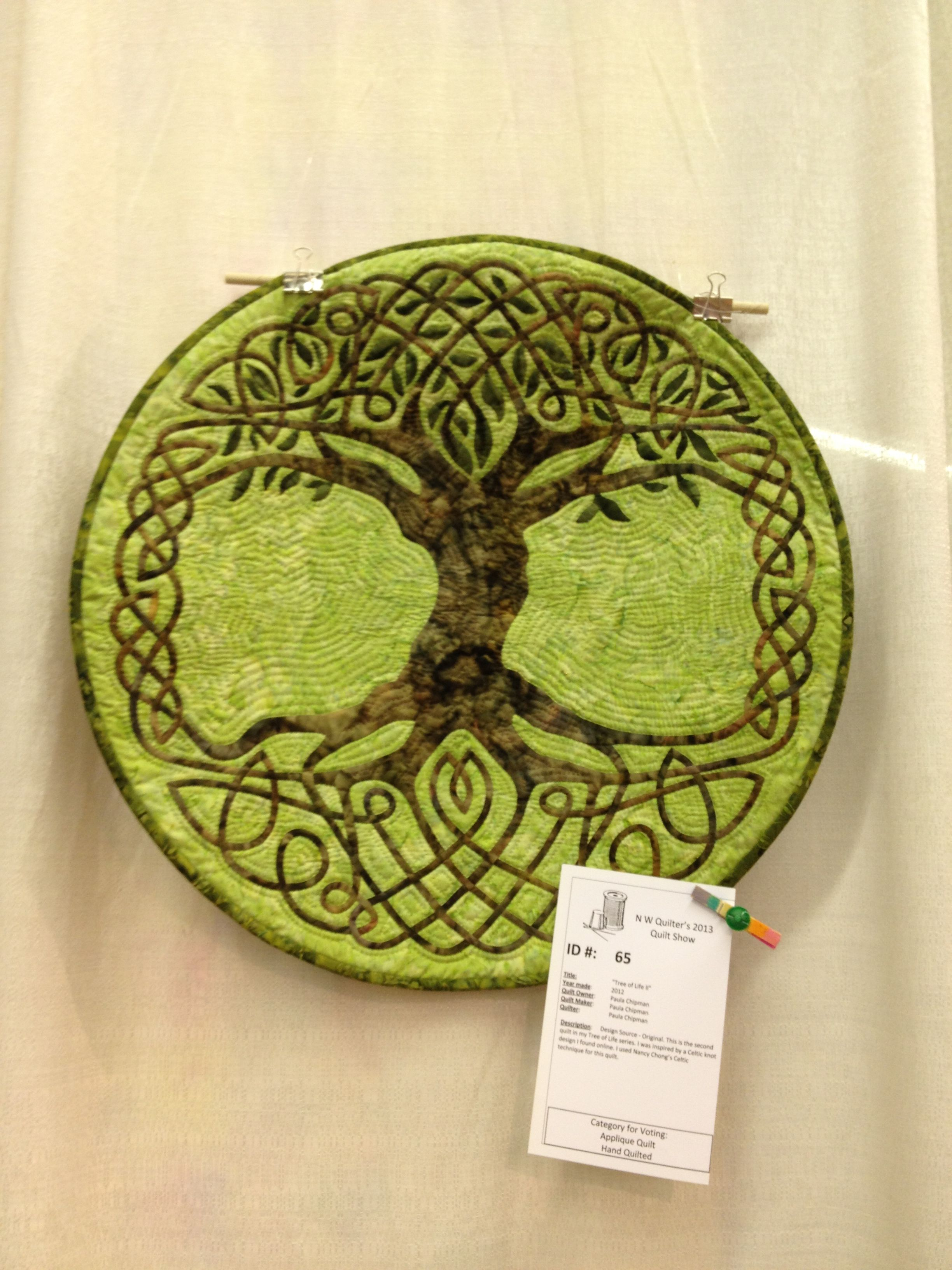 Tree of Life quilt by Paula Chapman, from the NW Quilters 2013 show ...