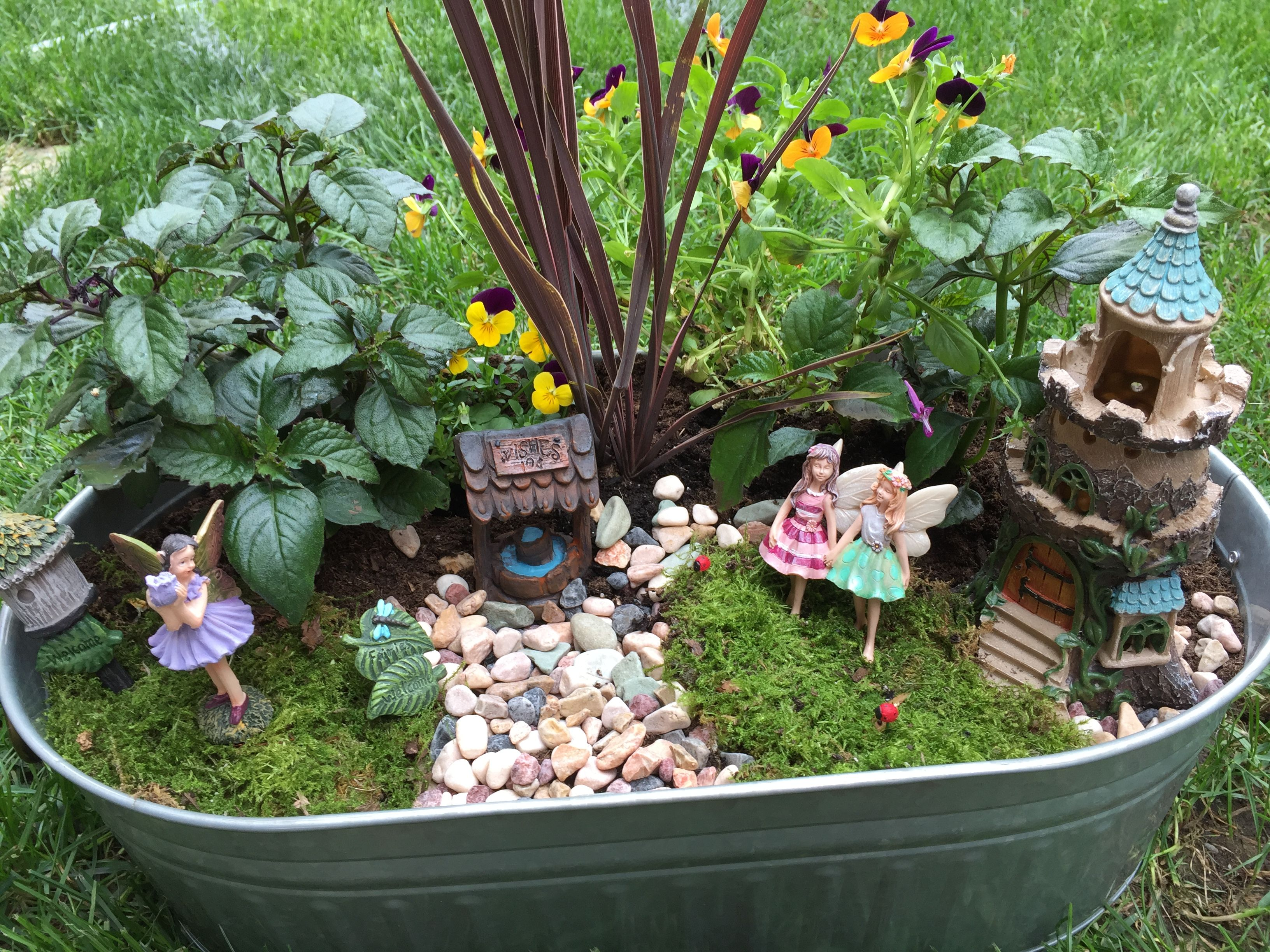 Fairy Garden Miniature Garden Fairy Garden Faeries Gardens