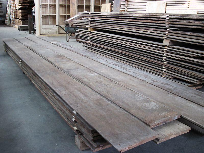 Oud teakhout oude houten vloeren in alle soorten en maten bij jan