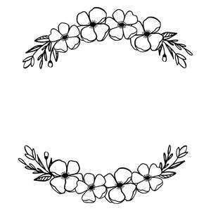 Silhouette Design Store: Spring Flower Wreath