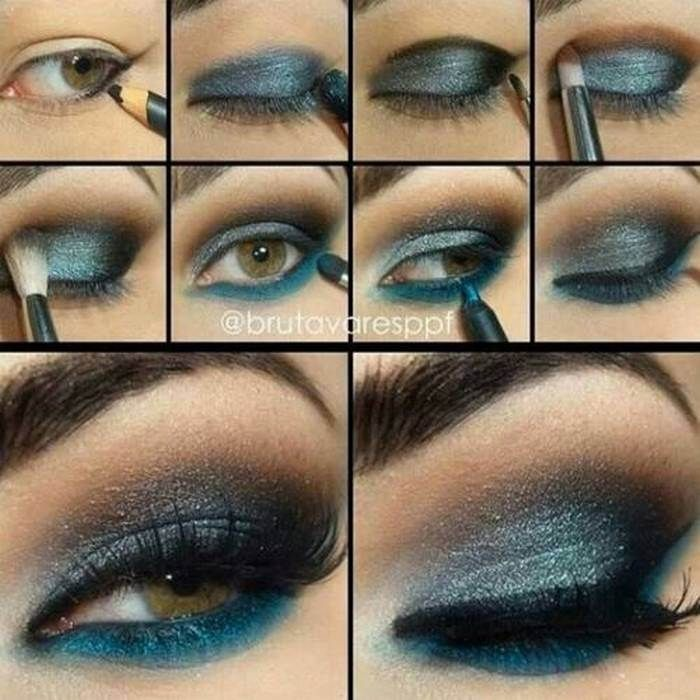 Luminoso y azul oscuro