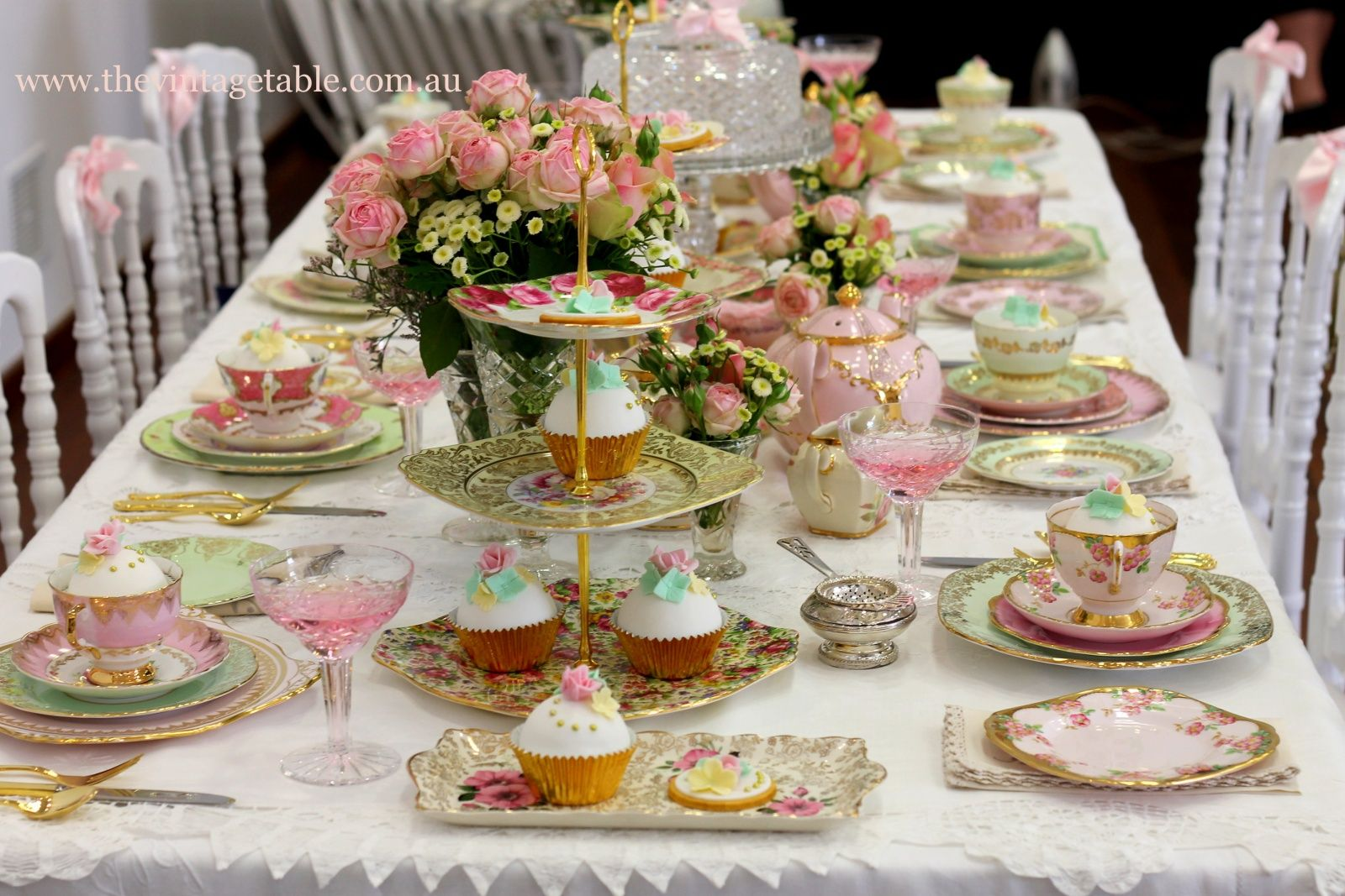 A series of tea rrific tea party ideas tea party themes for Vintage theme ideas