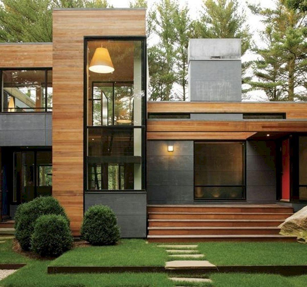 60 Best Stunning Modern Architecture Building Inspiration Freshouz Com Contemporary House Exterior Wooden House Design Architecture House