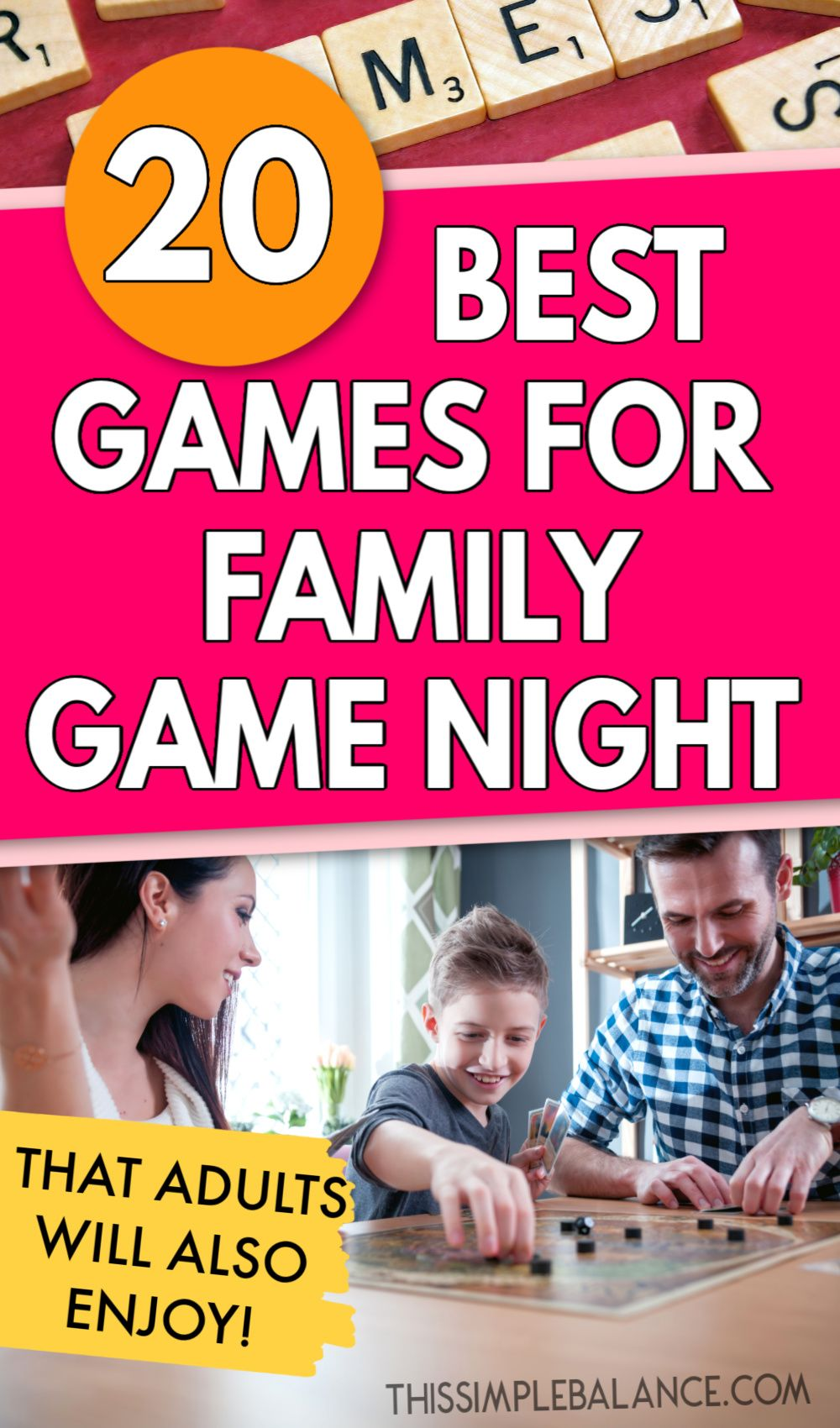 20+ Best Games for Family Game Night (that both kids AND