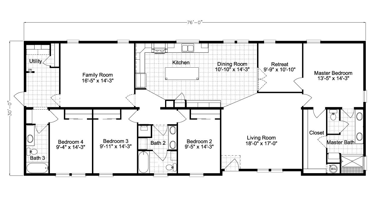 Floor Plan Pelican Bay II TL B